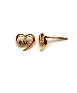 BOUCLES OR COEUR OZ INT-LOVE