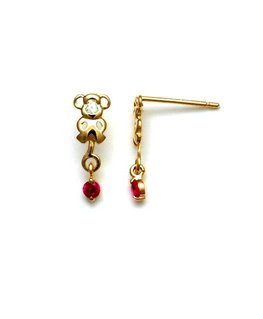 BOUCLES OR SINGE RUBIS + OZ