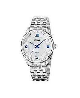 Montre Homme Métal Bracelet Metal Cadran Blanc