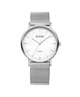 Montre Homme EYKI Métal Bracelet Milanais Cadran Blanc