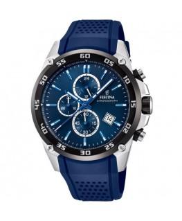 Montre FESTINA Homme Bracelet Bleu, Sport avec Chrono, Dateur et Tachymètre