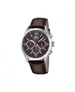 Montre LOTUS Homme Chrono Bracelet Cuir Marron