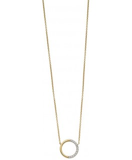 Collier Or Jaune 375 Cercle Oz