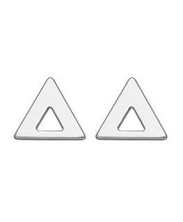 Boucles Or Gris 750 Triangle Ajouré