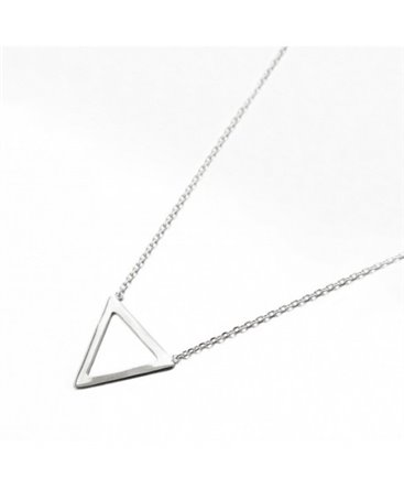 COLLIER ARGENT CHAINE V+ MOTIF TRIANGLE
