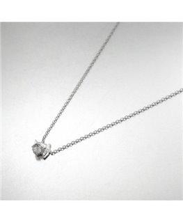 Collier Argent Dauphin + Oxyde de Zirconium Blanc