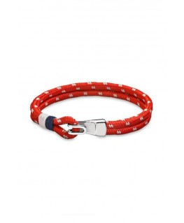BRACELET LOTUS HOMME BLANC ET ORANGE