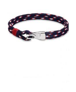 Bracelet Acier Lotus Homme Bleu Blanc Rouge