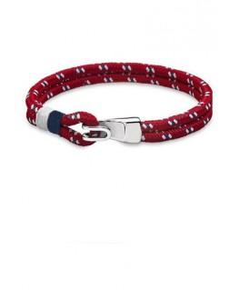 Bracelet Acier Lotus Homme Rouge
