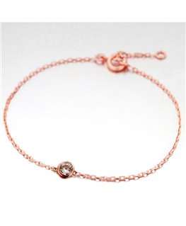 BRACELET PL-OR ROSE OZ SERTI CLOS 5MM
