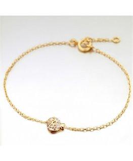 Bracelet Plaqué Or Oz Petits Coeurs