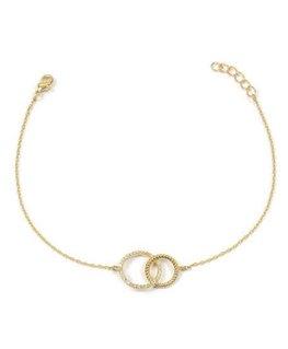 Bracelet Plaqué Or Oz Cercles Entrelacés