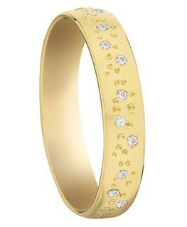 Alliance Or Jaune Diamants 0.12ct 750/000