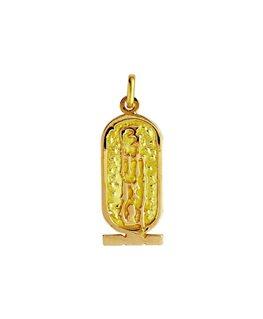 Pendentif en or jaune 750 mill 3.1g cartouche égyptienne