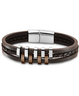 Bracelet Lotus Homme Marron
