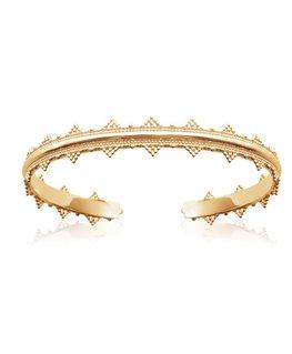 Bracelet Jonc Plaqué Or 9mm