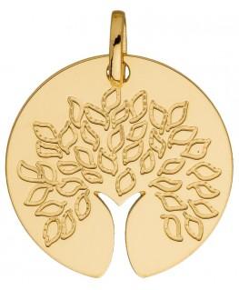 Médaille Or Jaune 750 Arbre De Vie