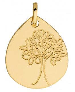 Medaille Or Jaune 750 Abre De Vie