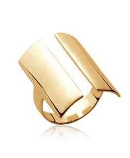 Bague plaqué or rectangulaire ajouré