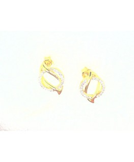 Boucles plaqué or oxydes de zirconium
