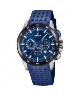 Montre Festina homme bracelet silicone bleu