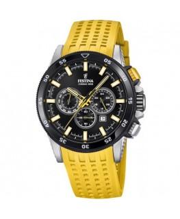 Montre Festina Homme bracelet silicone jaune