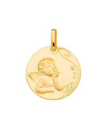 Medaille Or Jaune 750 Ange