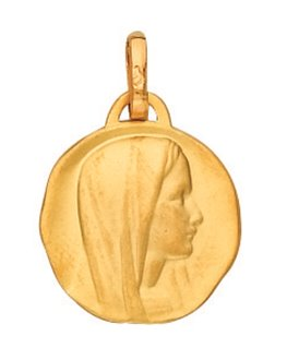 Medaille Or Jaune 750 Vierge