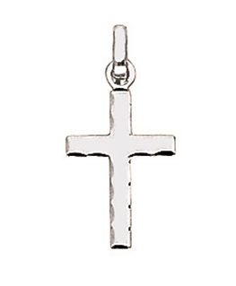 Pendentif Or Gris 750 Croix