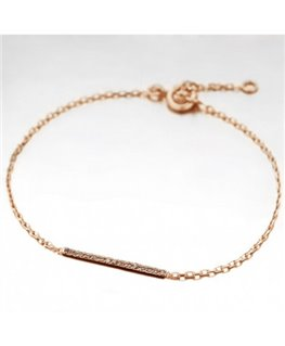 BRACELET PL-OR ROSE RHODIUM BARETTE OZ