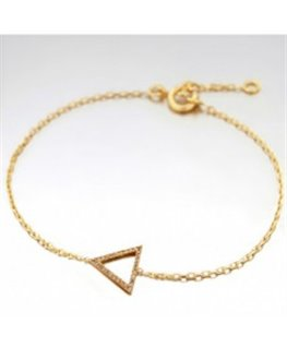 BRACELET PL-OR ROSE RH 1 TRIANGLE OZ