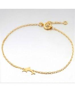 Bracelet Plaqué Or Dauphin