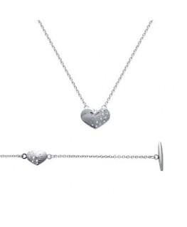 Bracelet dame acier coeur