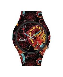 Montre DOODLE Noire Dragon Rouge