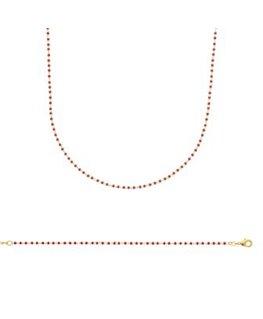 Bracelet Plaqué Or Résine Rouge
