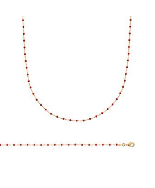 collier or et rouge