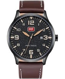 MONTRE HOMME MINI FOCUS CUIR MARRON C-NO