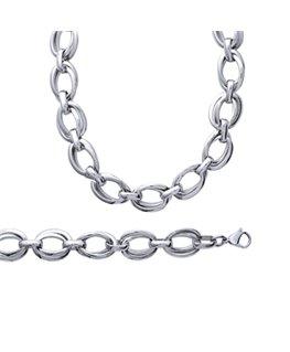 Bracelet acier dame doubles anneaux