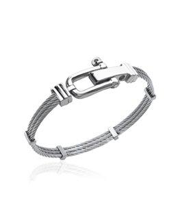 Bracelet homme jonc acier câble