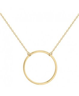 COLLIER PL-OR CHAINE FORCAT CERCLE 25MM