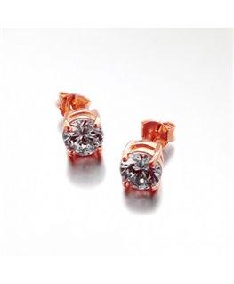 Boucles plaqué or rose oxydes de zirconium