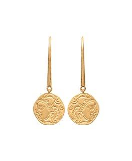 Boucles plaqué or pendantes