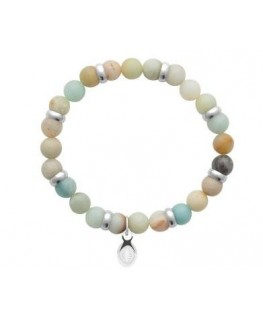 Bracelet Acier Amazonite