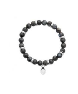 Bracelet Acier Labradorite