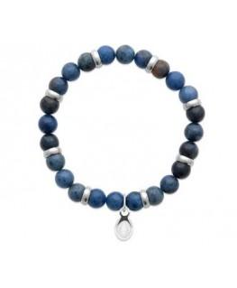 Bracelet Acier Sodalite
