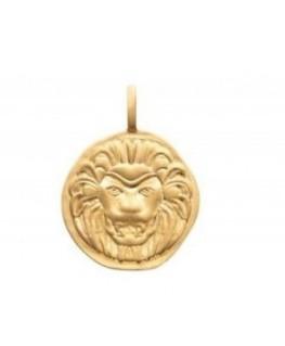 Pendentif Plaqué Or Médaille Lion