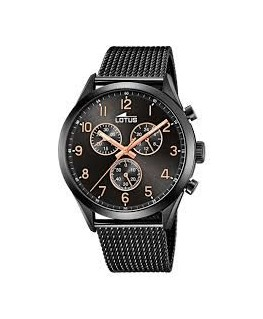 MONTRE LOTUS HOMME METAL FD NOIR CHRONO