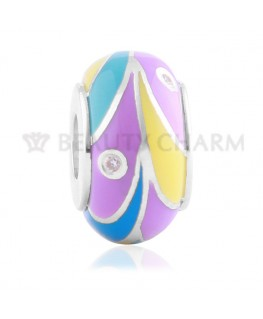 BEAUTY CHARMS Argent Anneau Multicolore Strass