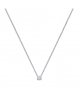 Collier Solitaire Argent Oxyde