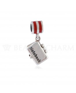 BEAUTY CHARMS Argent Notebook Rouge